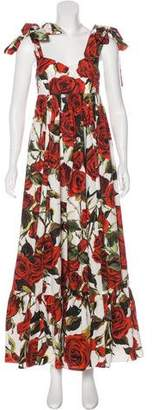 Dolce & Gabbana Printed Ruffle Dress w/ Tags
