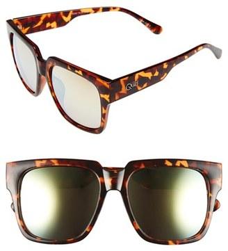 Junior Women's Quay Australia 'On The Prowl' 55Mm Square Sunglasses - Tortoise / Gold Mirror $50 thestylecure.com