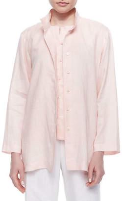 Go Silk Linen Button-Front Jacket $198 thestylecure.com