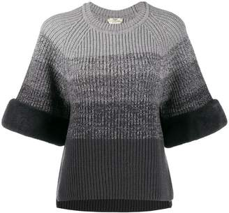 Fendi gradient knitted jumper