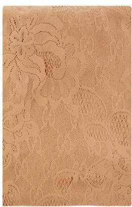 8127ed673bd05 Gucci Logo Brocade Floral Lace Tights - Womens - Beige