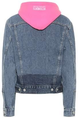 Vetements Hooded denim jacket