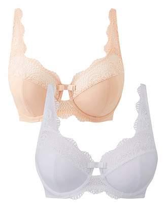 Pretty Secrets 2 PK Lottie Lace Blush/White Wired Bras