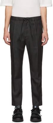 Cmmn Swdn Black Pinstripe Stan Trousers