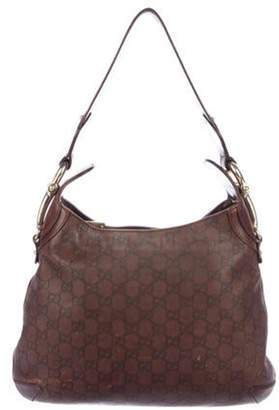 Gucci Signature Creole Hobo Brown Signature Creole Hobo