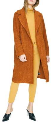 Sanctuary Go Long Faux Fur Teddy Coat