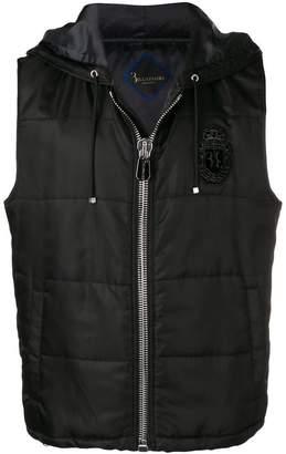 Billionaire sleeveless bomber jacket