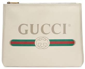 Gucci Print leather medium portfolio