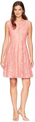 Gabby Skye Women's Sleeveless Coral Lace Dress
