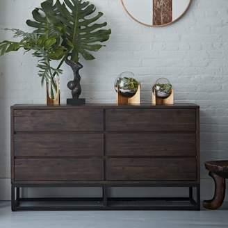 west elm Logan Industrial 6-Drawer Dresser - Smoked Brown
