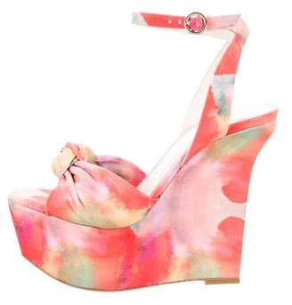 Alice + Olivia Printed Wedge Sandals