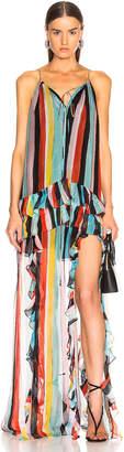 Caroline Constas Isla Maxi Dress in Black Multi | FWRD