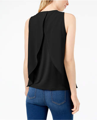 Bar III Layered-Look Split Back Tank Top