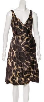 Prada Silk Animal Print Dress