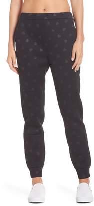 Kate Spade heart embossed jogger pants