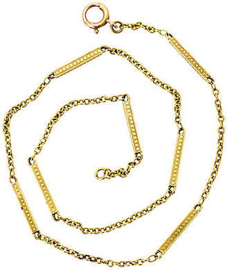 One Kings Lane Vintage 14K Solid Gold Watch Chain - N.P.Trent Antiques