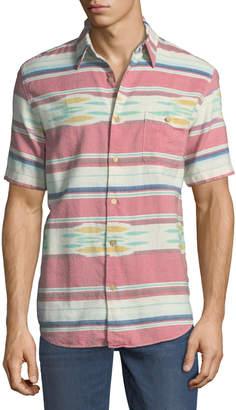 Faherty Coast Desert-Striped Short-Sleeve Sport Shirt