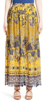 Women's Fuzzi Batik Print Maxi Skirt $550 thestylecure.com