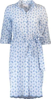 Lisa Marie Fernandez Mini Cornflower Eyelet Shirt Dress