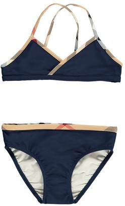 BURBERRY Crosby Tartan Trimmed Bikini $141.60 thestylecure.com