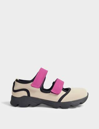 Marni Neoprene Sneakers in Swan and Fuchsia Neoprene and Rubber