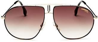 Carrera Women's Brow Bar Aviator Sunglasses, 60mm