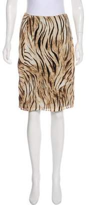 Blumarine Animal Print Skirt