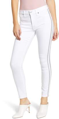 7 For All Mankind Side Stripe High Waist Ankle Skinny Jeans