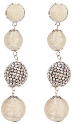 Natasha Accessories Thread Ball Drop Earrings
