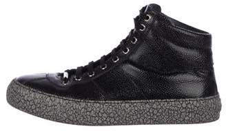 Jimmy Choo Patent Leather High-Top Sneakers