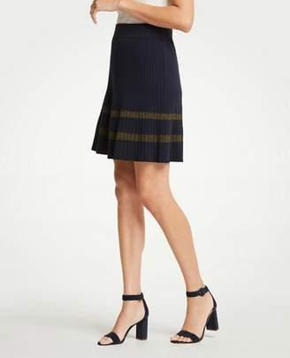 Ann Taylor Shimmer Stripe Sweater Skirt