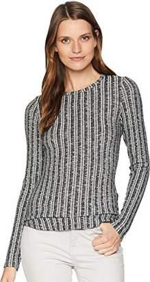 Three Dots Women's GQ2660 Variegated Sweater l/s Crewneck
