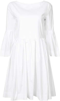 Rochas Meal fluted sleeve dress