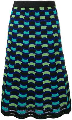 M Missoni knitted wave skirt
