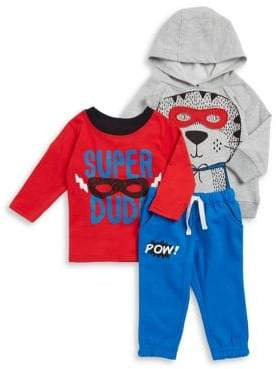 Nannette Baby Boy's Three-Piece Hoodie, Top and Jogger Pants Set