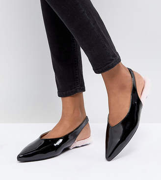 Monki Patent Pointed Sling Back