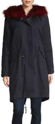 Saks Fifth Avenue Fox Fur-Trimmed Cotton Down Parka