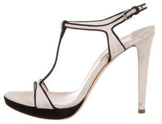 Miu Miu Suede T-Strap Sandals