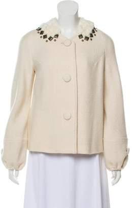 Rebecca Taylor Wool-Blend Button-Up Jacket