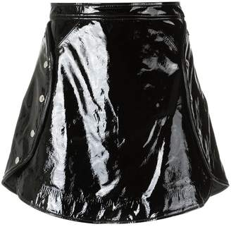 Olympiah patent leather skirt