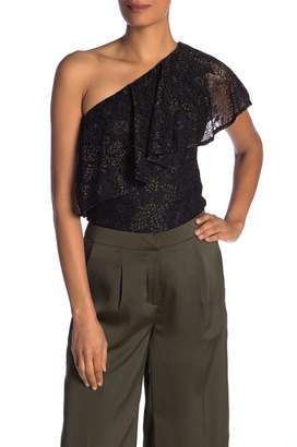 Nanette Lepore One Shoulder Lace Top