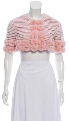 J. Mendel Mink Fur Shrug Pink Mink Fur Shrug