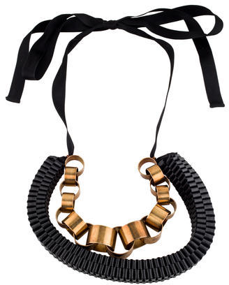 MarniMarni Woven Leather Collar Necklace