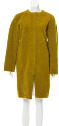 Diane von Furstenberg Textured Knee-Length Coat