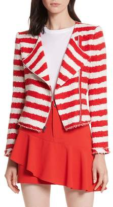 Alice + Olivia Stanton Stripe Tweed Jacket