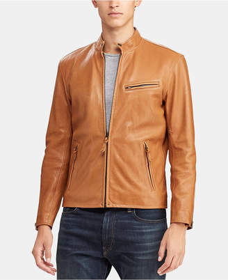 Polo Ralph Lauren Men Cafe Racer Leather Jacket
