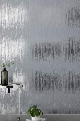 Next Paste The Wall Foil Stripe Wallpaper - Silver