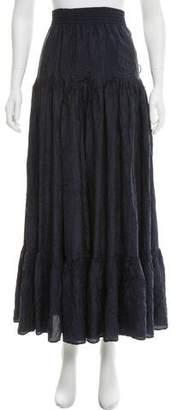 Calypso Ruffled Midi Skirt w/ Tags