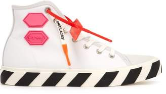 Off-White Off White Vulc High Top Trainers - Mens - White Multi