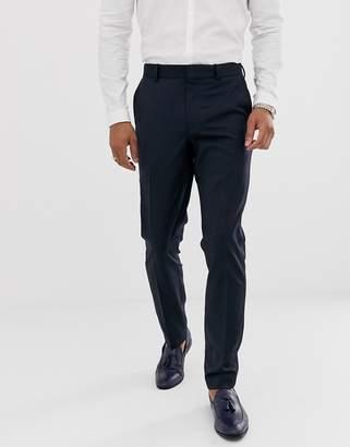 Asos DESIGN skinny tuxedo suit pants in navy